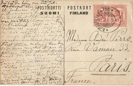 LBR38 - FINLANDE EP CP DE 1918 CIRCULEE - Postal Stationery
