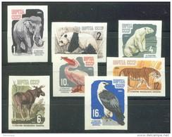 RUSSIA 1964 Stamp MNH ** VF Mi 2914-20 B Imperf MOSCOW ZOO 100 ANIMALS ANIMAUX FAUNA ELEFANT TIGER POLAR BEAR BIRD PANDA