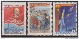 Russie N° 2138 - 2140 ** 21ème Congrès Du Parti Communiste, Lénine Et Moscou, Barrage Hydro-électrique, Lénine - 1959