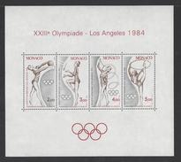 MONACO . YT Bloc 27 Neuf ** Jeux Olympiques D'été à Los Angeles 1984