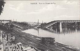 Belgique - Namur - Guerre 14-18 - Pont De Chemin De Fer Détruit