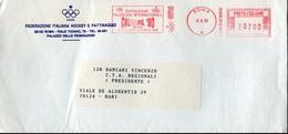 18716 Italia, Circuled Red Meter/freistempel/ema/ Roma 1990,calciofil 1990 Football Exhibition Of Roma