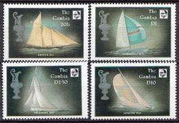 Gambia MNH Sailing Set And SS