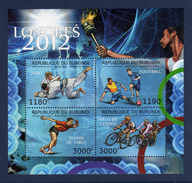 BURUNDI 2012 Olympic Games JO London Judo Football Cyclisme Bloc MNH **