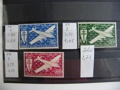 3 Timbres Neufs  Poste Aerienne Afrique Occidentale Française N° 1-2-3 - Poste Aérienne