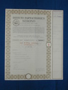 """Titolo  1 Azione """" Istituto Farmacologico Serono """" 1970 - Industrie"""