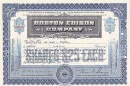 Boston Edison Company - 20 Shares 1886 - Industrie