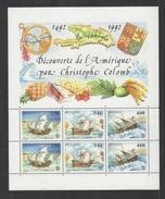 MONACO . YT Bloc 57 Neuf ** Europa. 500e Anniversaire De La Découverte De L'Amérique Par Christophe Colomb 1992