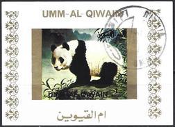 Umm Al-Qiwain 1972 - Giant Panda ( Mi B1382B - YT Xxx ) Block Imperforated - Umm Al-Qiwain