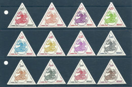 Monaco - 1980 - 1983 - 12 Valeurs - Neuf ** - Timbres Taxe N° 63 à 74 - 3 Séries Complètes - Neufs