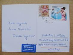 Serbia Pc 2008 Postcard US Open With Jelena Jankovic Serena Williams Tennis Tennisplayer Stamp A 6,50 Euro
