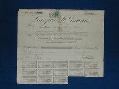 """Certificato 200 Azioni """"Lanificio Di Gavardo"""" 1967 - Textile"""