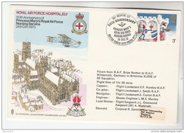 RAF HOSPITAL NURSING SERVICE Special FLIGHT COVER GB To Germany Forces Aviation Health Medicine Stamps - Medicine