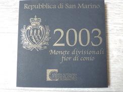 2003 -  SAINT MARIN - BU Officiel  Des 9  Pièces  - Sous Blister  Scellé D´origine -  Voir Les 4 Scannes Et Photos - San Marino