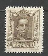 ALFONSO XIII VAQUER EDIFIL NUM. 318 ** NUEVO SIN FIJASELLOS - Unused Stamps