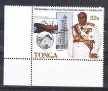 Tonga   -   1988.  Re Tupou IV. Salto Con L' Asta, Container, Petrolio. Pole Vault, Oil Research. Date 1988. MNH