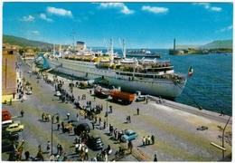 NAVI - BARCHE - MESSINA - TRANSATLANTICO IN PORTO - 1971 - Barche