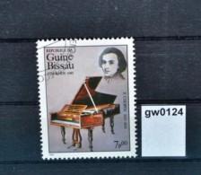 Gw0124 Frederic Chopin, Komponist, Klavier, Guinea Bissau 1985