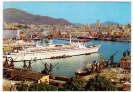 NAVI - BARCHE - GENOVA - PORTO E PANORAMA - 1971 - Barche