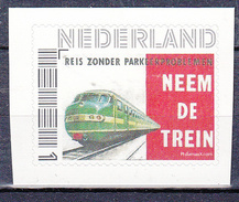 """Trein, Train, Locomotive, Eisenbahn: Nederland 2017 """"neem De Trein""""  Rolzegel, Zelfklevend"""