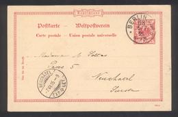 Entier Postal De Berlin Pour Neuchatel (Suisse)  6 JUIL 1895
