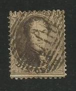 1863 - COB N° 14A - Dent. 12 1/2 X 13 1/2 - Oblitéré AMBULANT  O. III - Voir Description
