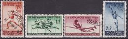 Yugoslavia Kingdom 1938 Sport - The 9th Balkan Games - Used Mi 362-365 - Used Stamps