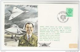 1982 VULCAN FLIGHT COVER Raf Waddington COSFORD AIR DISPLAY Illus R Falk TEST PILOT Aviation Gb Stamps - Airplanes