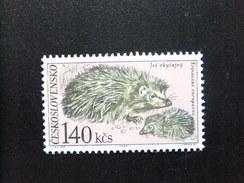 CHECOSLOVAQUIA TCHÉCOSLOVAQUIE 1967 Fauna Erizo Yvert 1595 ** MNH