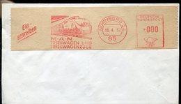 18724 Germany,red Meter/freistempel/ema/ Nurnberg, Triebwagenzuge, Trains, MAN (fragment Of Cover)