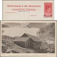 Bolivie 1945. Entier Postal Officiel. La Paz, Station De Ski à 5200 Mètres, Disparue à Cause Du Réchauffement Climatique - Climat & Météorologie