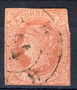 Spagna 1864 N. 60 C. 4rosso Su Salmone Usato - Spagna