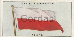 Player's Cigarettes Card - Poland - Flags Of The League Of Nations - 40 - Player's
