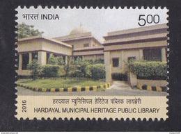 INDIA, 2016, Hardayal Municipal Heritage Public Library,  Architecture, MNH, (**)