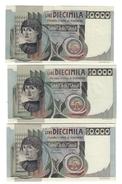 10000 LIRE DEL CASTAGNO 1978 + 1982  SUP/FDS + 1984 SPL+ LOTTO 315 - 10000 Lire