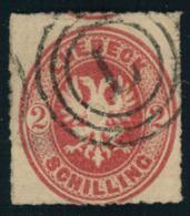 """2 Schilling Wappen Gebraucht Mit 3-Ring-Stempel """"""""L"""""""" Lübeck."""