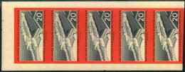 1960, 125 Jahre Deutsche Eisenbahn Geschnitten Im Postfrischen 5-er-Streifen.