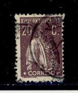 ! ! Portugal - 1920 Ceres 20 C (Carton Paper) - Af. 240 - Used