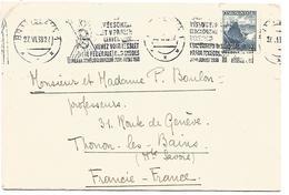 TCHECOSLOVAQUIE LETTRE DE BRATISLAVA POUR LA FRANCE DU 27/6/1938