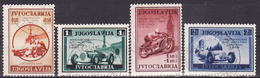 Yugoslavia 1939  Auto Moto Reli Sport   Fine Used. Mi 381-384 - 1931-1941 Royaume De Yougoslavie