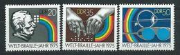DDR 1975  Mi 2090 - 2092 Welt-Brtaile-Jahr