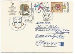 TCHECOSLOVAQUIE LETTRE DE ZILINA  POUR LA FRANCE 1980