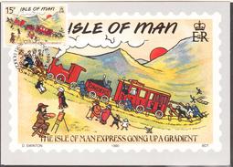 ILE DE MAN -  1990 - Carte Postale Mannoise -  Yvert  427 CARTE MAXIMUM