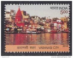 INDIA 2016, Varanasi City, 1 V, River, Temple, Boat, MNH, (**)