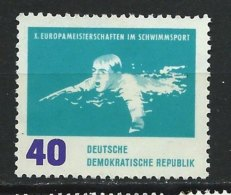 DDR-RDA - N° 624 -  10° Championnat D'Europe De Natation - *