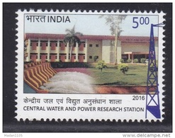 INDIA, 2016, Central Water And Power Research Station, Dam, Tower,   MNH, (**)