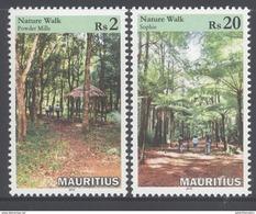 MAURITIUS, 2016, MNH, NATURE WALKS, TREES, 2v