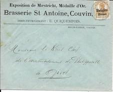 Lettre Deutsches Reich  COUVIN   BRASSERIE St Antoine