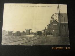 Cpa ETREAUPONT (02) Arrivée Du Train De La Comission De Réception - Francia