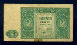 Banconota Polonia 2 ZLOTE 1946 Circolata - Polonia